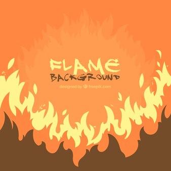 Orange flame background