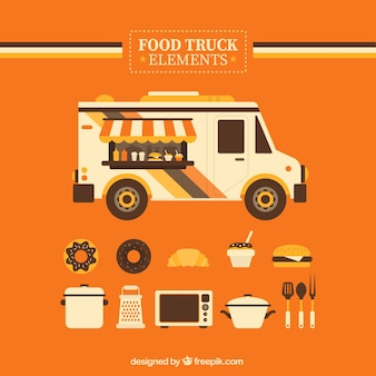Orange food truck elements