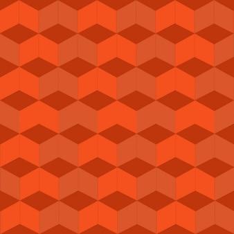 Orange geometric pattern with rhombus