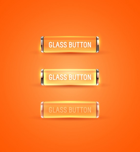 Orange glass buttons collection