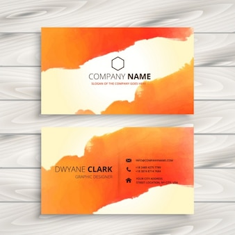 Orange ink corporate identity card