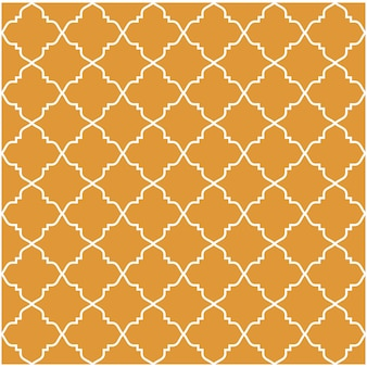 Orange Islamic Arabic Pattern