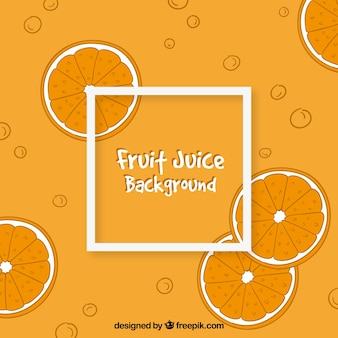 手描きのスタイルでオレンジジュースの背景