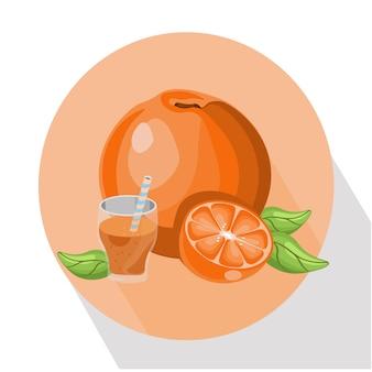 オレンジジュースの背景