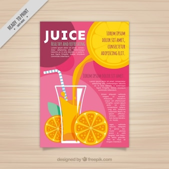 Orange juice flyer