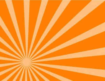 Orange lateral sunburst background