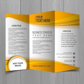 Orange leaflet with three parts