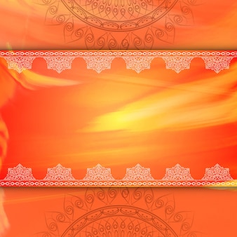 Orange luxury mandala background