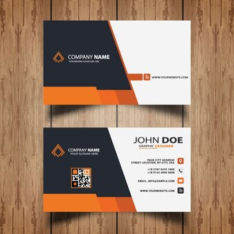 Orange modern business card