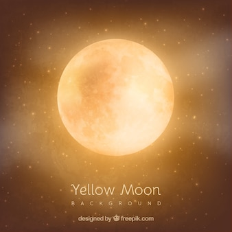 Orange moon background