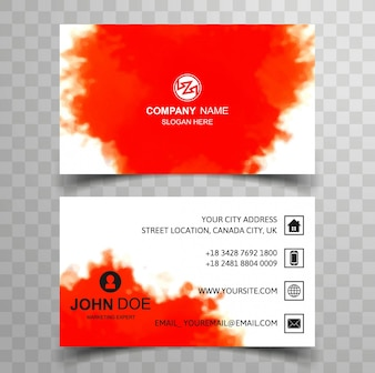 Orange paint business card