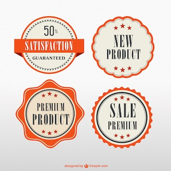 Orange premium product badges