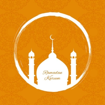Orange ramadan background
