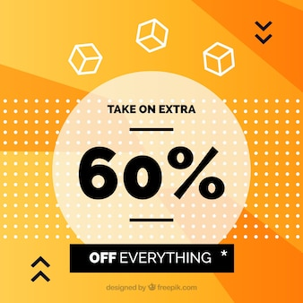 Orange sale background with great discount