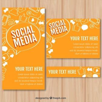 Orange social media stationery