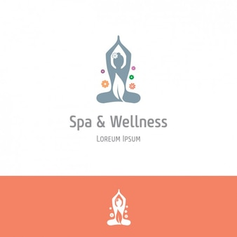Orange spa and wellness background