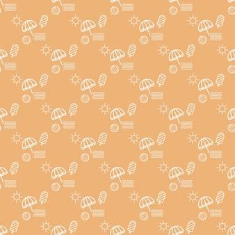 Orange summer pattern design