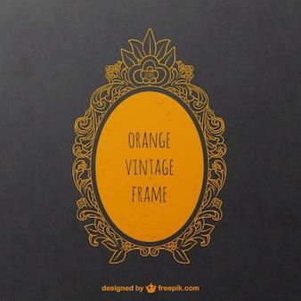 Orange vintage frame