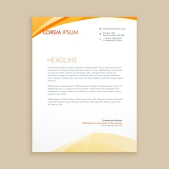 Orange waves letterhead