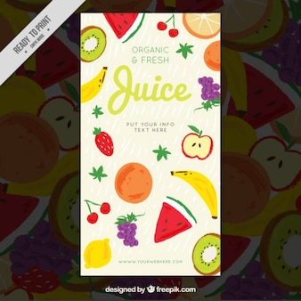 Organic and fresh fruit poster