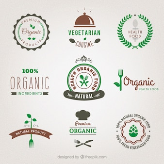 Organic food badges