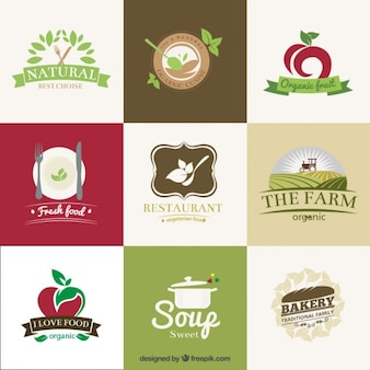 Organic restaurants badges