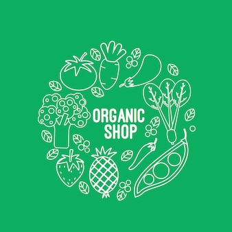 Organic shop background design