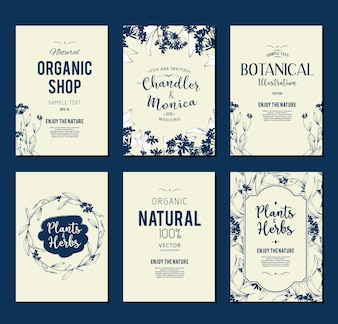Organic shop flyer collection