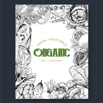 Organic vegetables frame
