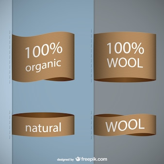 Organic wool tags