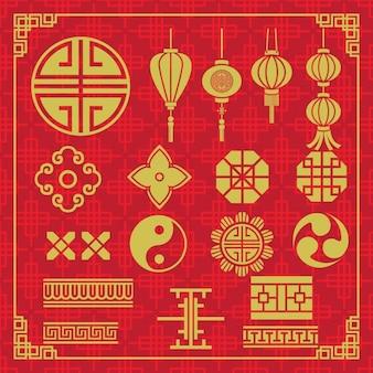 Oriental icons design