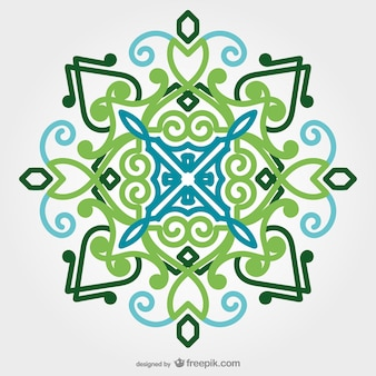 Oriental ornament in green tones
