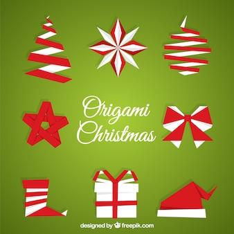 Origami christmas shapes