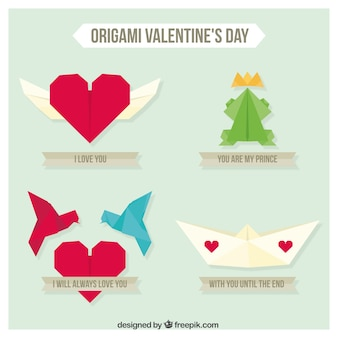 Origami valentine day pack