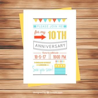 Original anniversary invitation