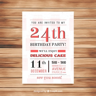 Original birthday invitation in vintage style