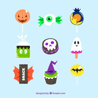 Original pack of colorful halloween candies