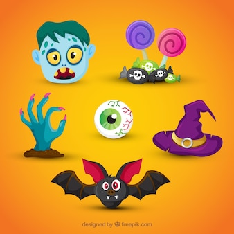 Original pack of fun halloween elements