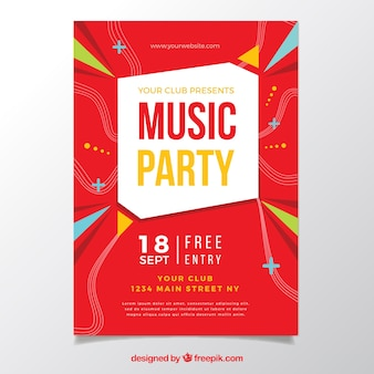 Original party poster with geometric style