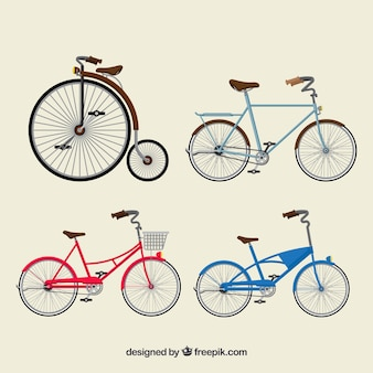 Original set of vintage bikes