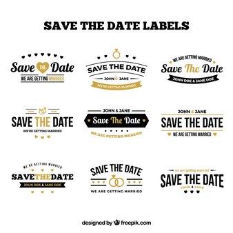 Original set of vintage wedding labels