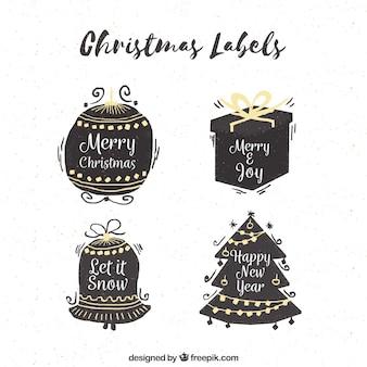 Original variety of christmas labels