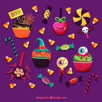 Original variety of fun halloween candies