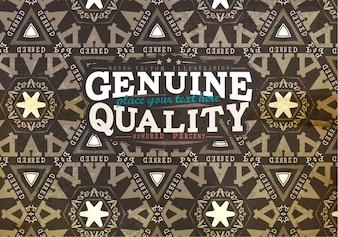Ornament geometric vintage ethnic label