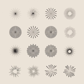 Ornament stars & sunburst collection