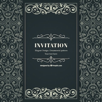 Ornamental and elegant invitation in victorian style