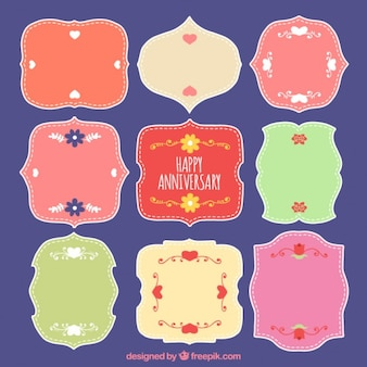 Ornamental anniversary badges