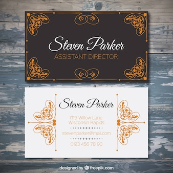 Ornamental assistant director card