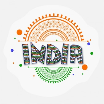 Ornamental background for republic day of india