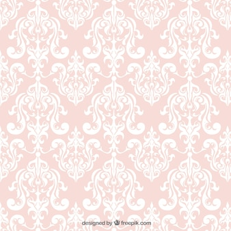 Ornamental background in pink color